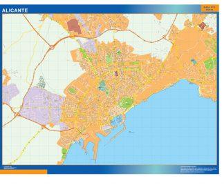 Mapa Alicante callejero gigante
