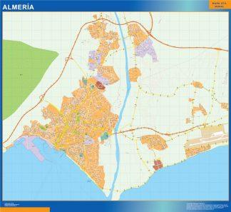 Mapa Almeria callejero gigante