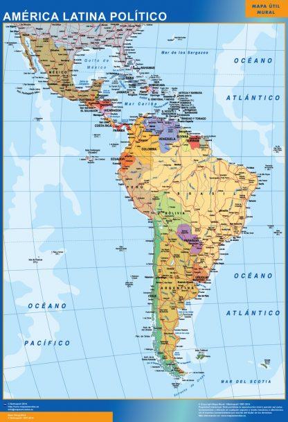 Mapa America Latina político gigante