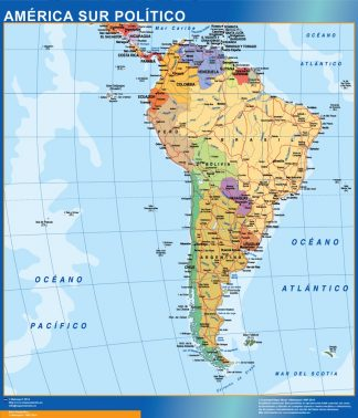Mapa America Sur gigante