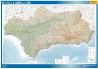 Mapa Andalucia relieve gigante