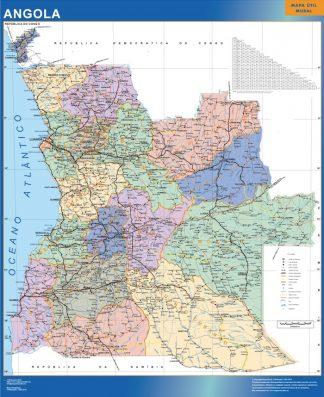 Mapa Angola gigante