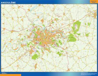 Mapa Angouleme en Francia gigante