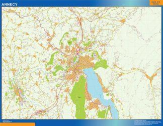 Mapa Annecy en Francia gigante