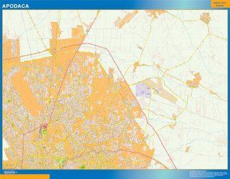 Mapa Apodaca en Mexico gigante