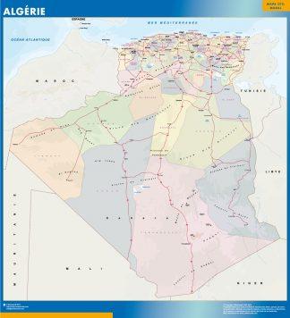 Mapa Argelia gigante