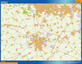 Mapa Arras en Francia gigante