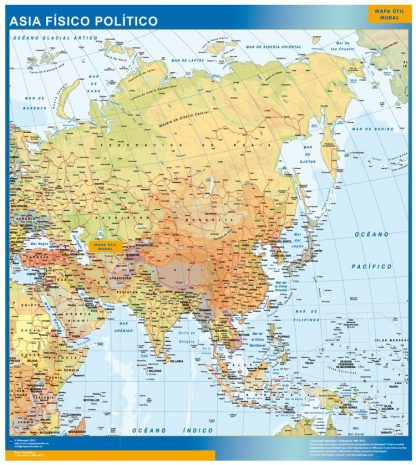 Mapa Asia gigante