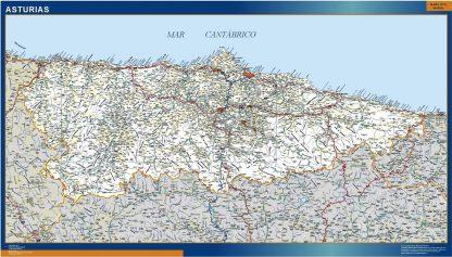 Mapa Asturias carreteras gigante