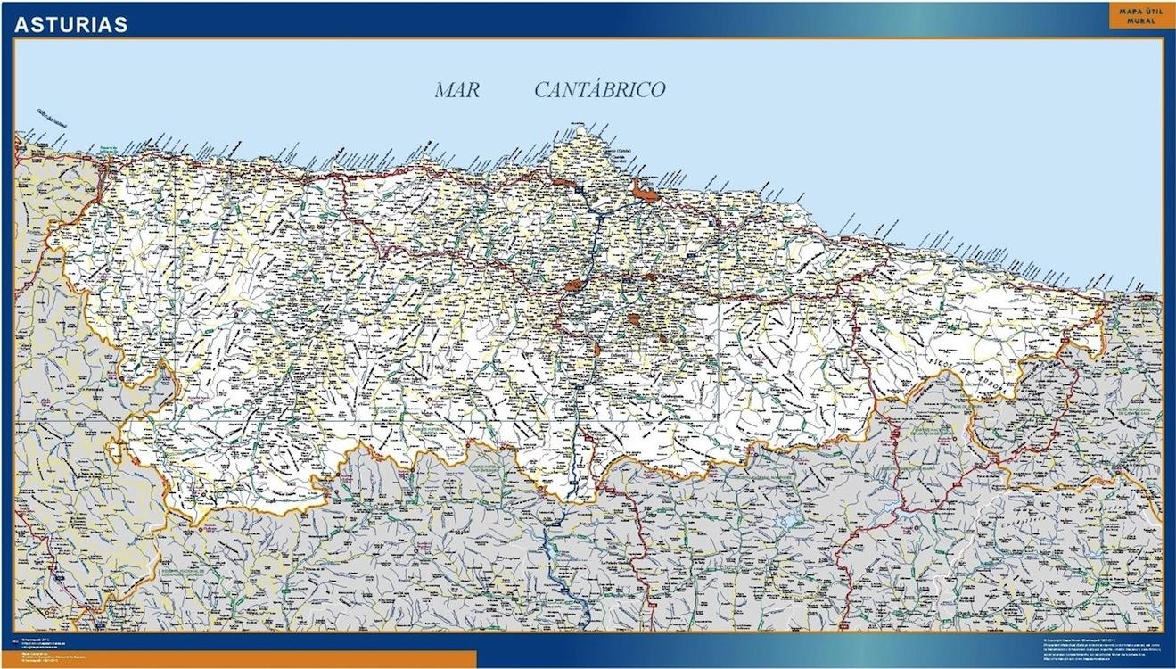 Mapa Asturias Carreteras Grande Mapasmurales Com
