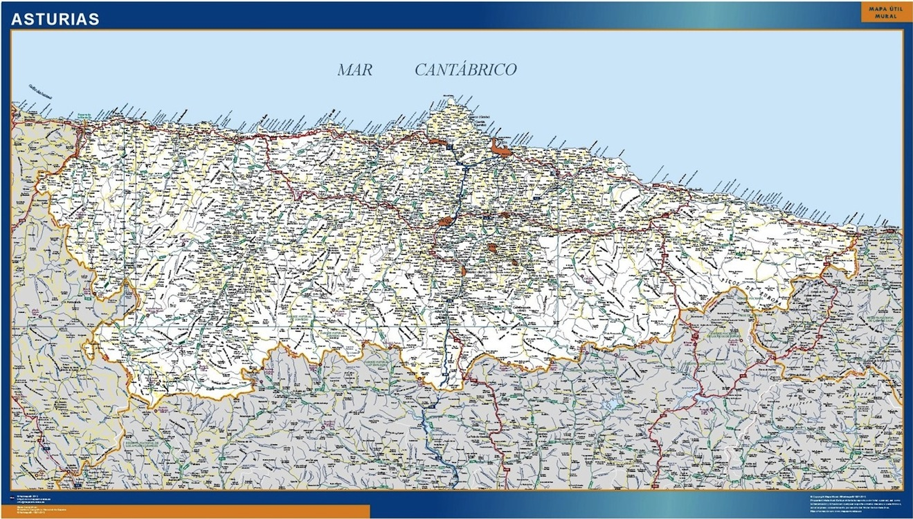 Mapa Carreteras Asturias