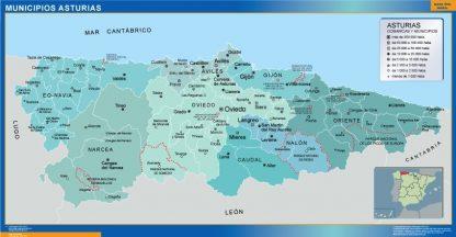 Mapa Asturias por municipios gigante