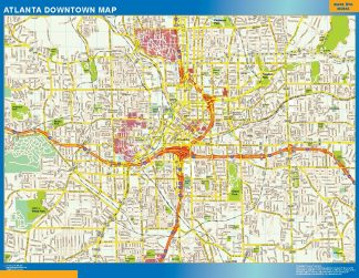 Mapa Atlanta downtown gigante