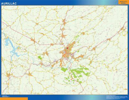 Mapa Aurillac en Francia gigante