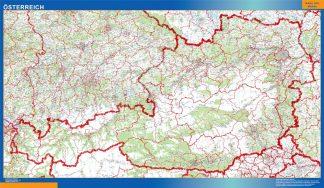 Mapa Austria gigante