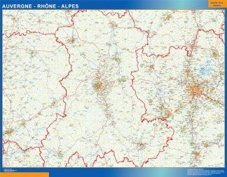 Mapa Auvergne Rhone Alpes en Francia gigante