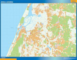 Mapa Aveiro área urbana gigante