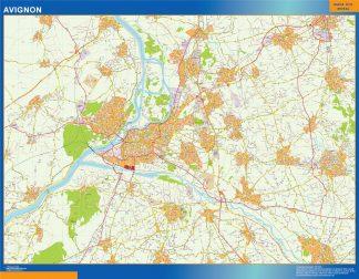 Mapa Avignon en Francia gigante