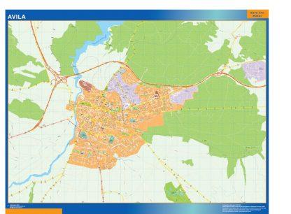 Mapa Avila callejero gigante