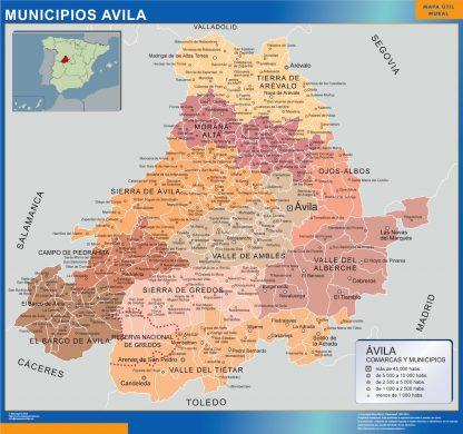 Mapa Avila por municipios gigante