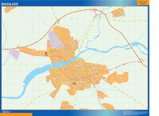 Mapa Badajoz callejero gigante