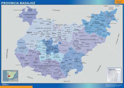 Mapa Badajoz por municipios gigante