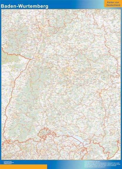 Mapa Baden-Wurtemberg gigante