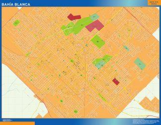 Mapa Bahia Blanca en Argentina gigante