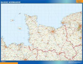 Mapa Baisse Normandie en Francia gigante