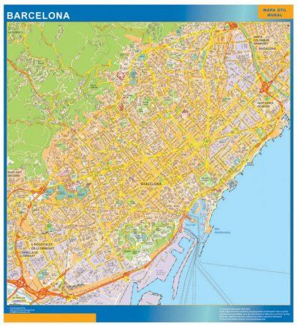 Mapa Barcelona callejero gigante