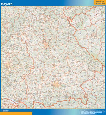 Mapa Baviera gigante