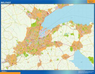 Mapa Belfast gigante