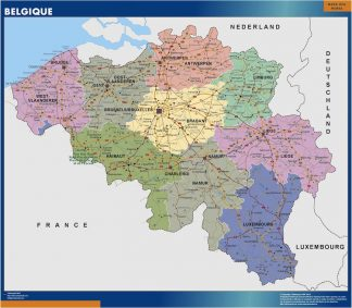 Mapa Belgica gigante