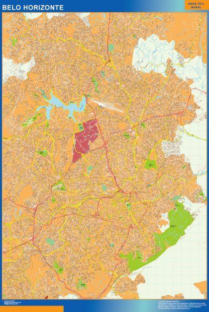 Mapa Belo Horizonte Brasil gigante