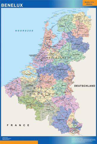 Mapa Benelux gigante