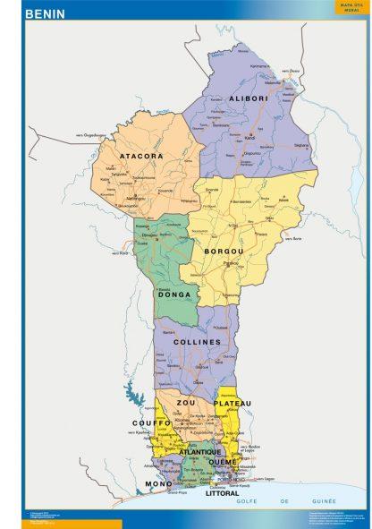 Mapa Benin gigante