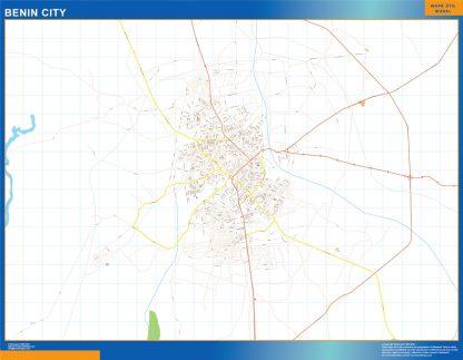 Mapa Benin City en Nigeria gigante