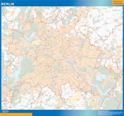 Mapa Berlin gigante