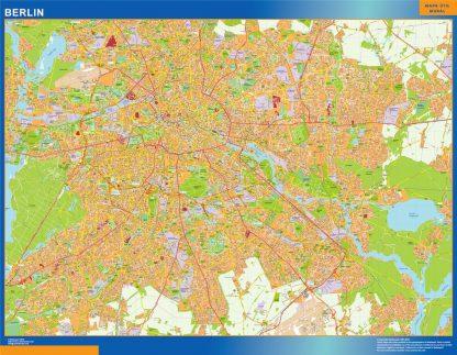Mapa Berlin en Alemania gigante