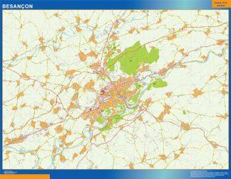 Mapa Besancon en Francia gigante