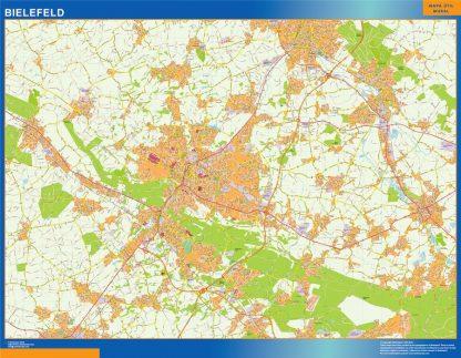 Mapa Bielefeld en Alemania gigante