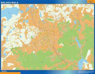 Mapa Bielsko Biala Polonia gigante