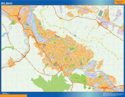 Mapa Bilbao callejero gigante