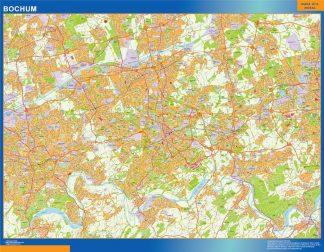 Mapa Bochum en Alemania gigante