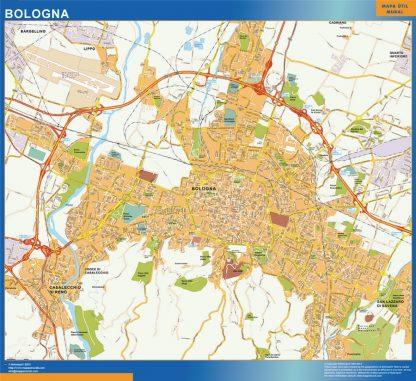 Mapa Bologna gigante