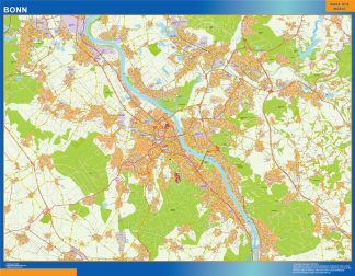 Mapa Bonn en Alemania gigante