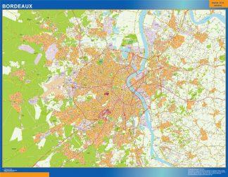Mapa Bordeaux en Francia gigante