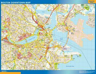 Mapa Boston downtown gigante