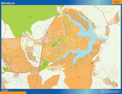 Mapa Brasilia Brasil gigante
