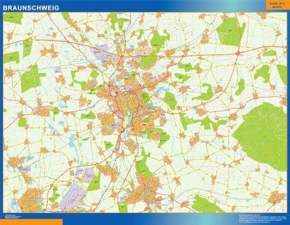 Mapa Braunschweig en Alemania gigante